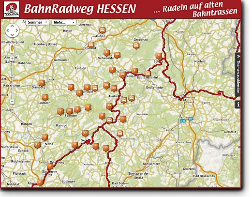 Bahnradweg Interaktive Karte